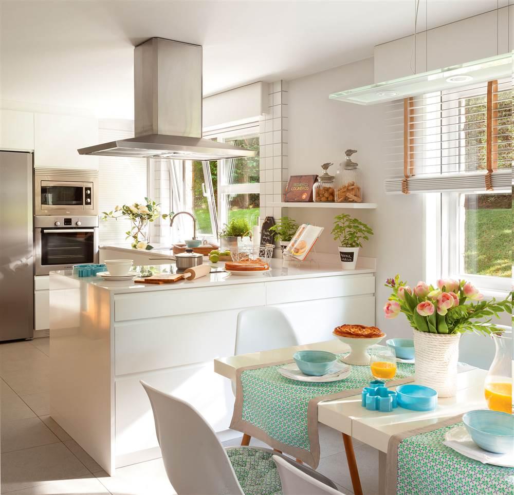 Cocinas en blanco una apuesta atemporal y muy luminosa for Cocinas blancas 2016