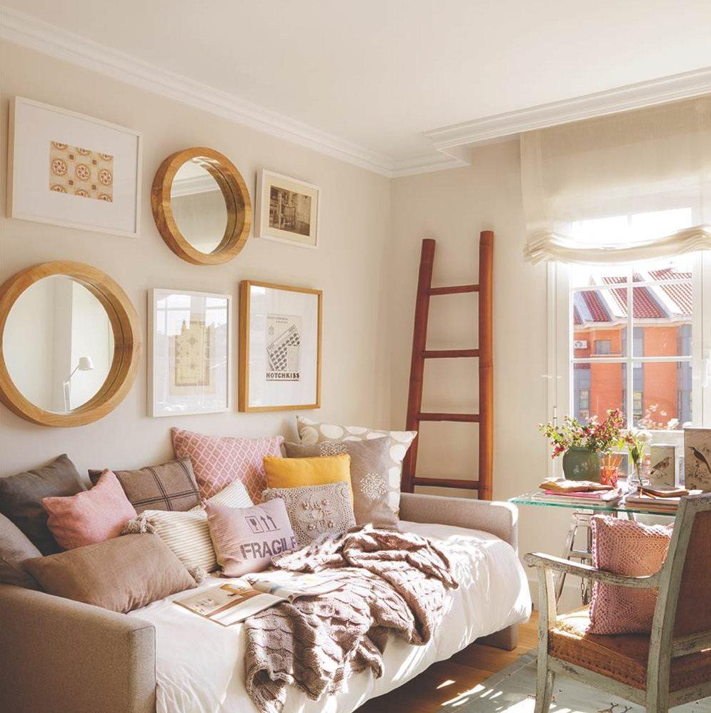 C mo hacer una composici n de cuadros en la pared - Cuadros para dormitorios rusticos ...