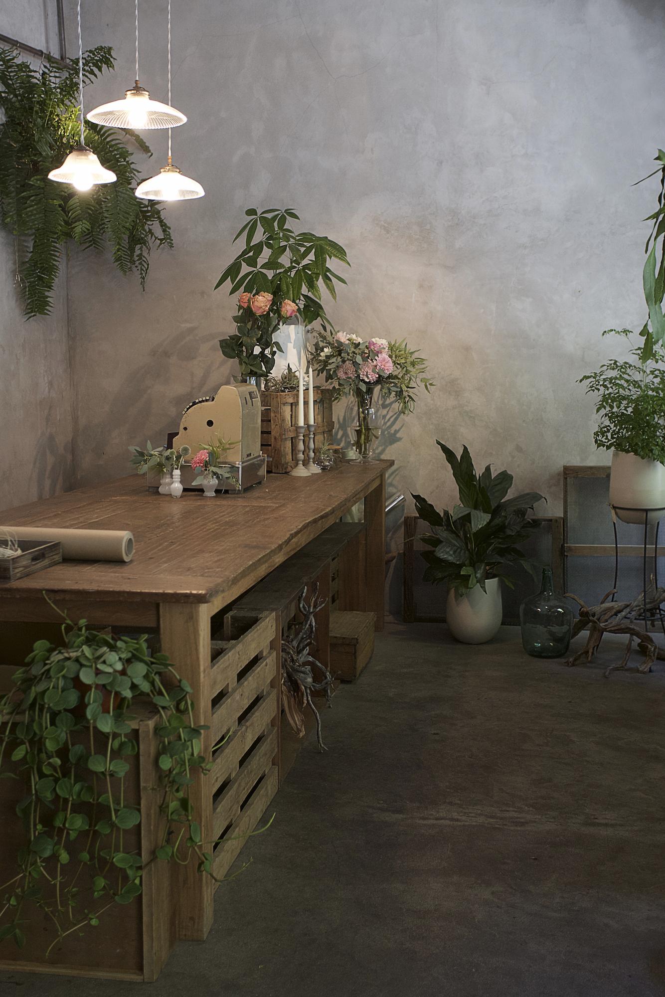 Visitamos a la florista maila iammartino - Tiestos de madera ...