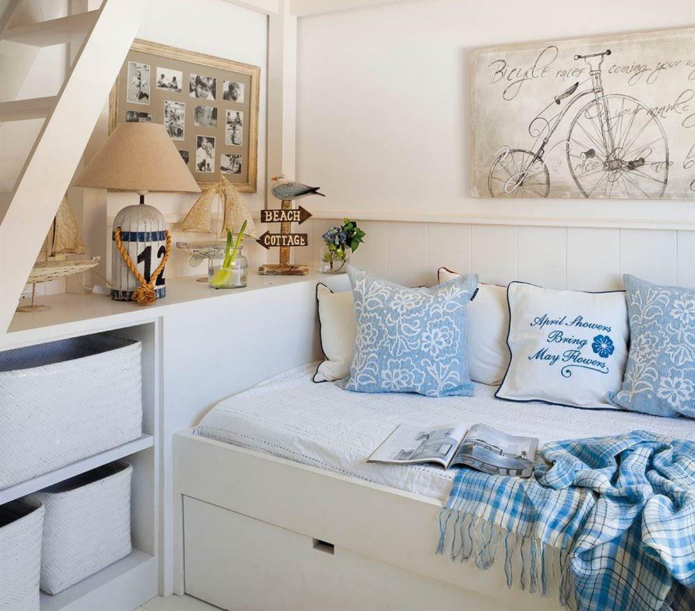 Muebles que aprovechan espacio - Cabeceros con compartimentos ...