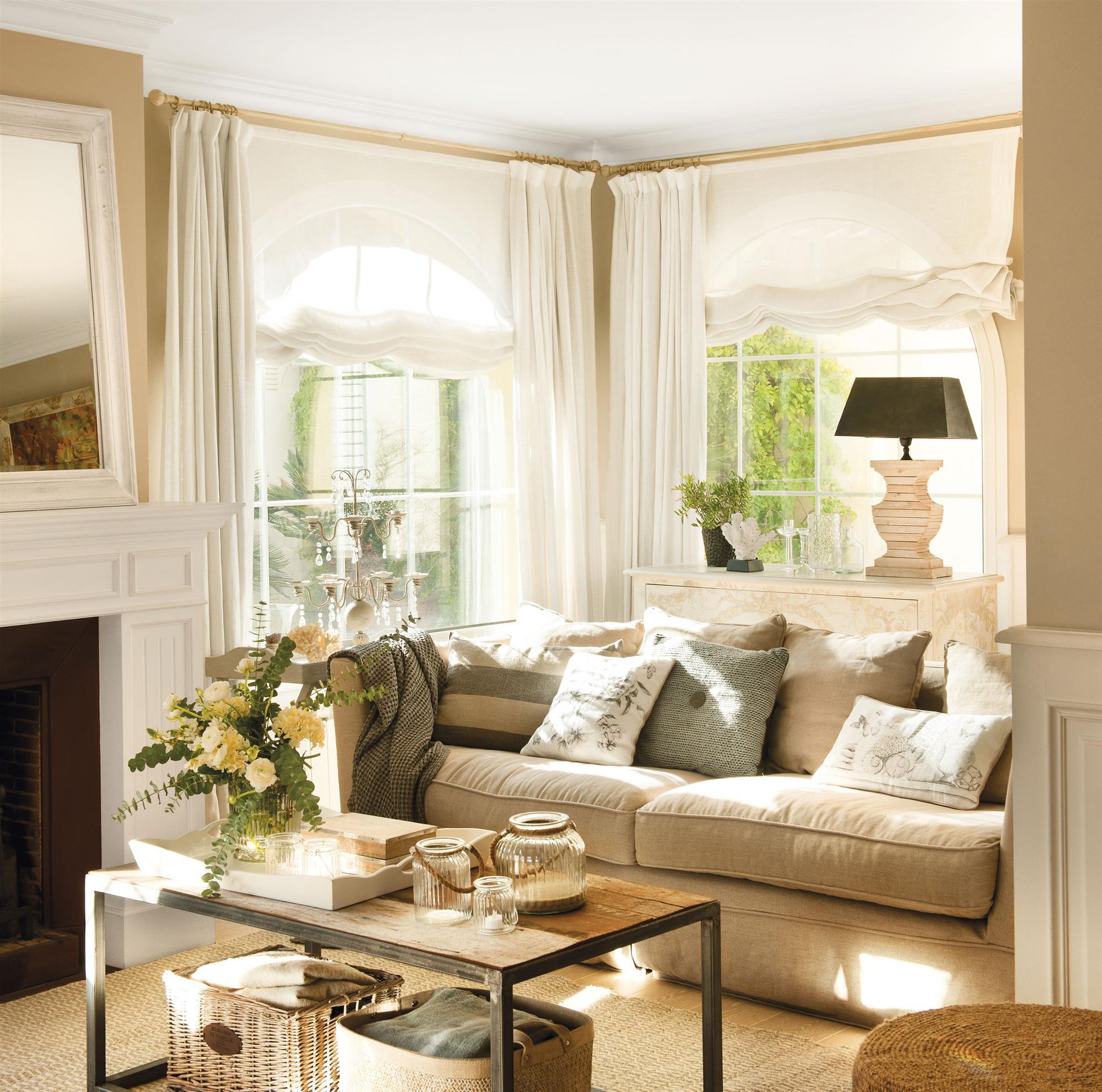 Escoger cortinas for Cortinas salon clasico