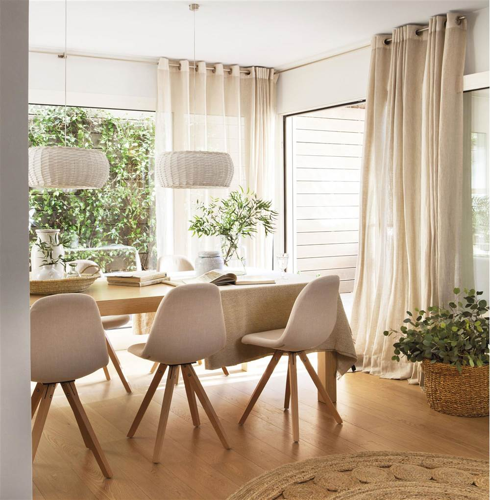 Escoger cortinas for Cortinas comedor baratas