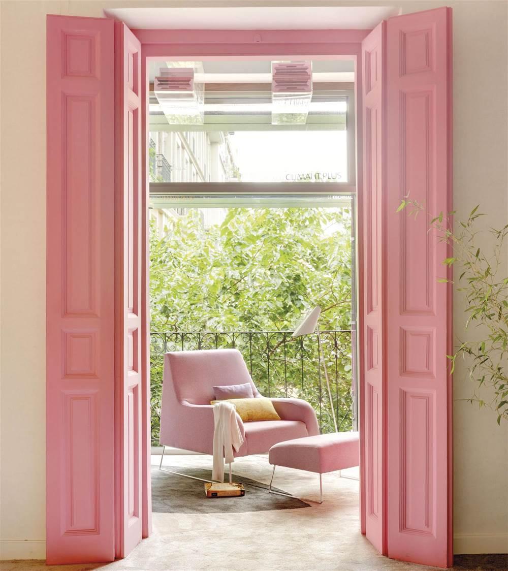 Tendencias de decoraci n en color rosa for Pintura para marcos de puertas y ventanas