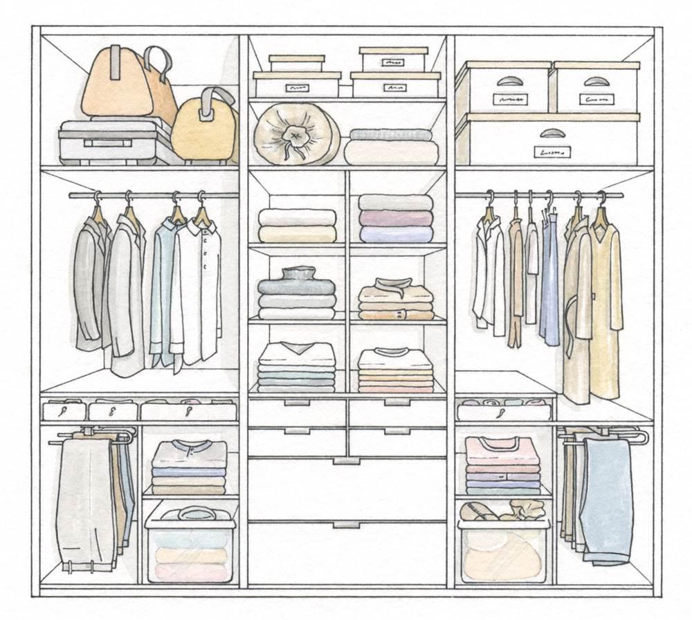 C mo organizar bien el armario for Distribucion de armarios empotrados por dentro