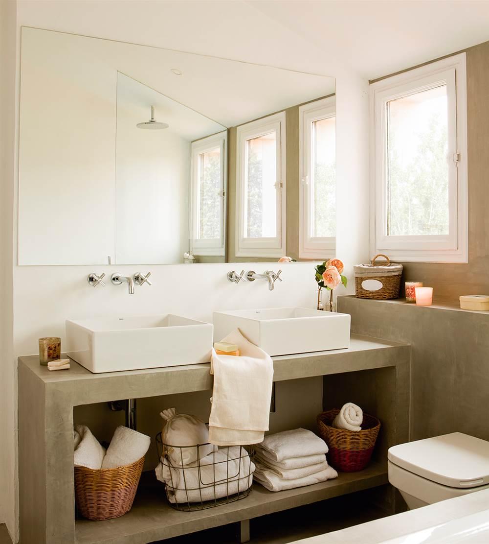 5 espacios mini que lo tienen todo for Banos con ceramica rustica