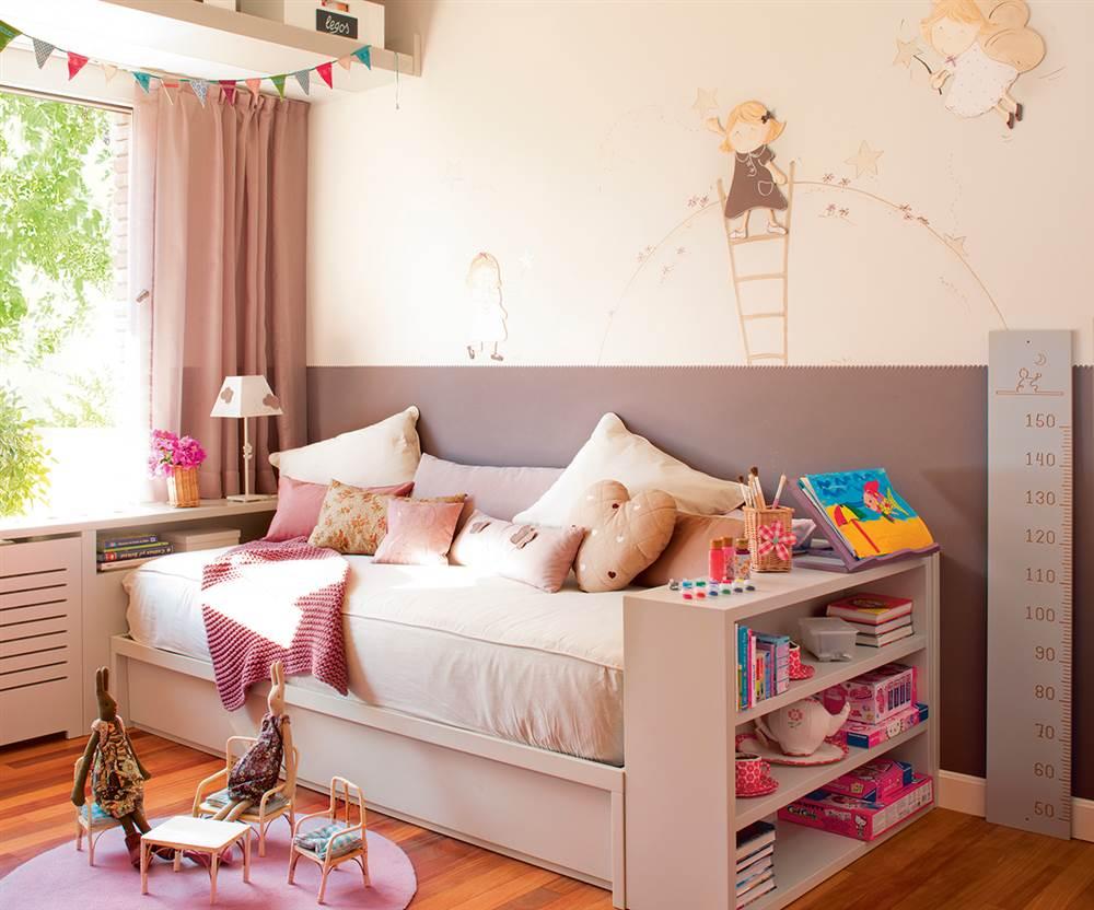 Ideas de almacenaje en habitaciones de ni os - Dormitorio infantil nina ...