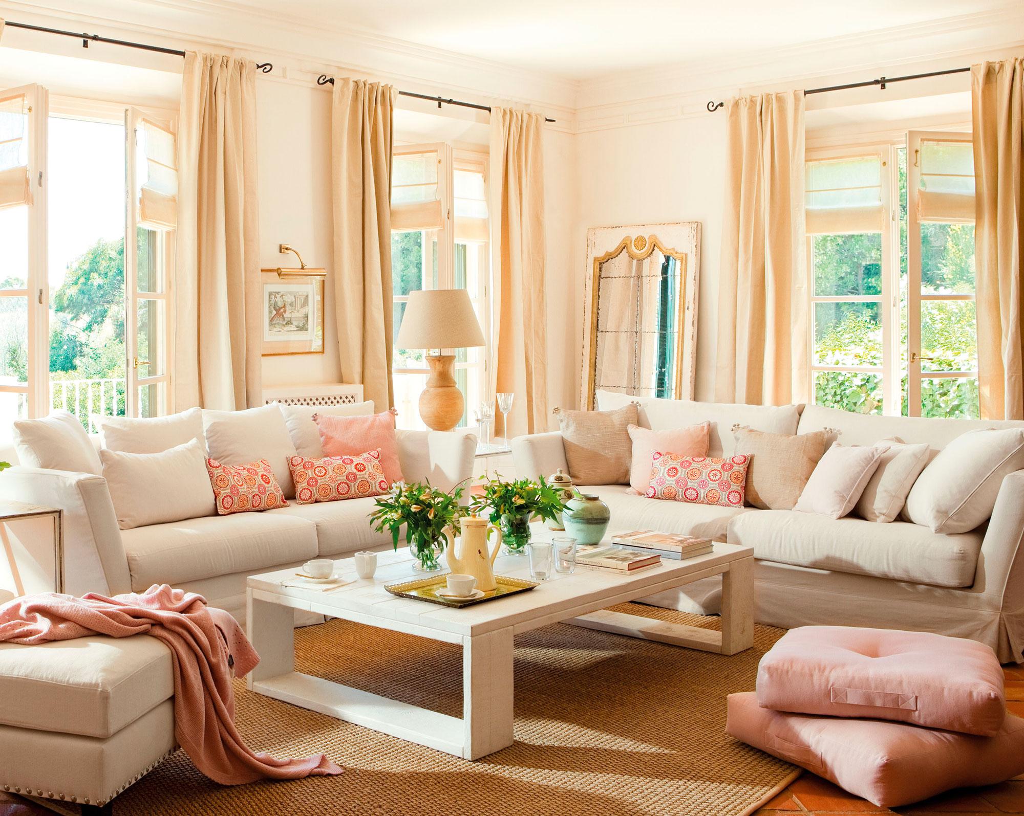 elegir las telas del sal n c mo elegirlas y combinarlas con xito. Black Bedroom Furniture Sets. Home Design Ideas