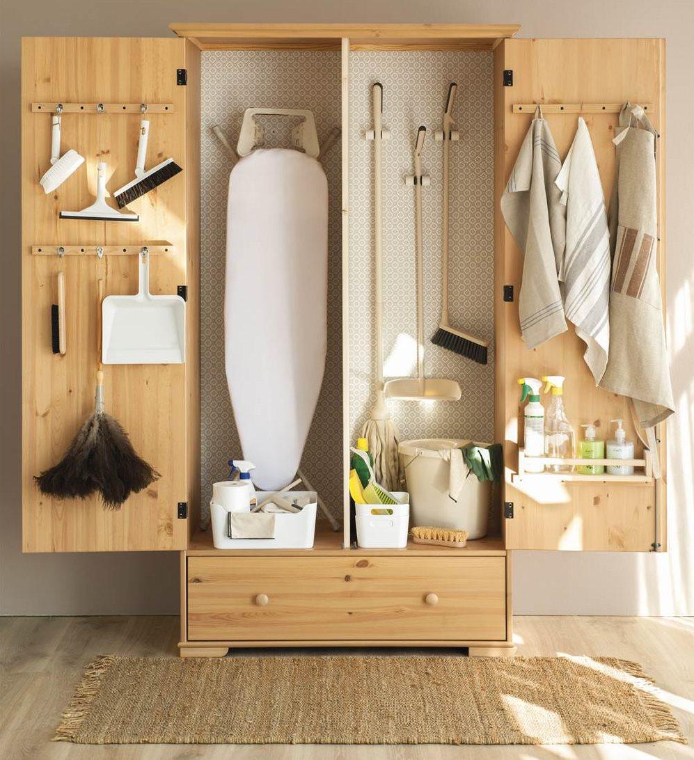 C mo personalizar un armario low cost - Mueble tabla de planchar ikea ...