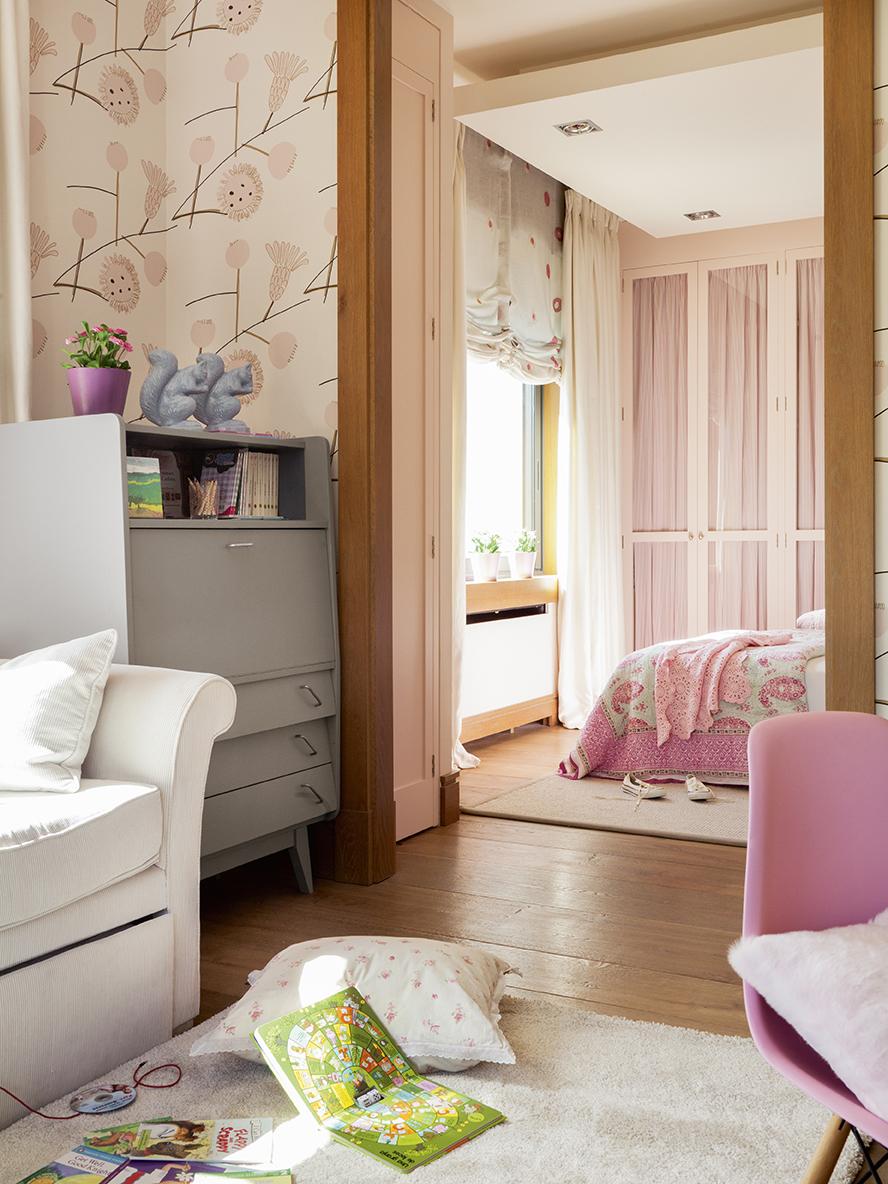 El dormitorio ideal para las ni as - Habitacion infantil rosa ...