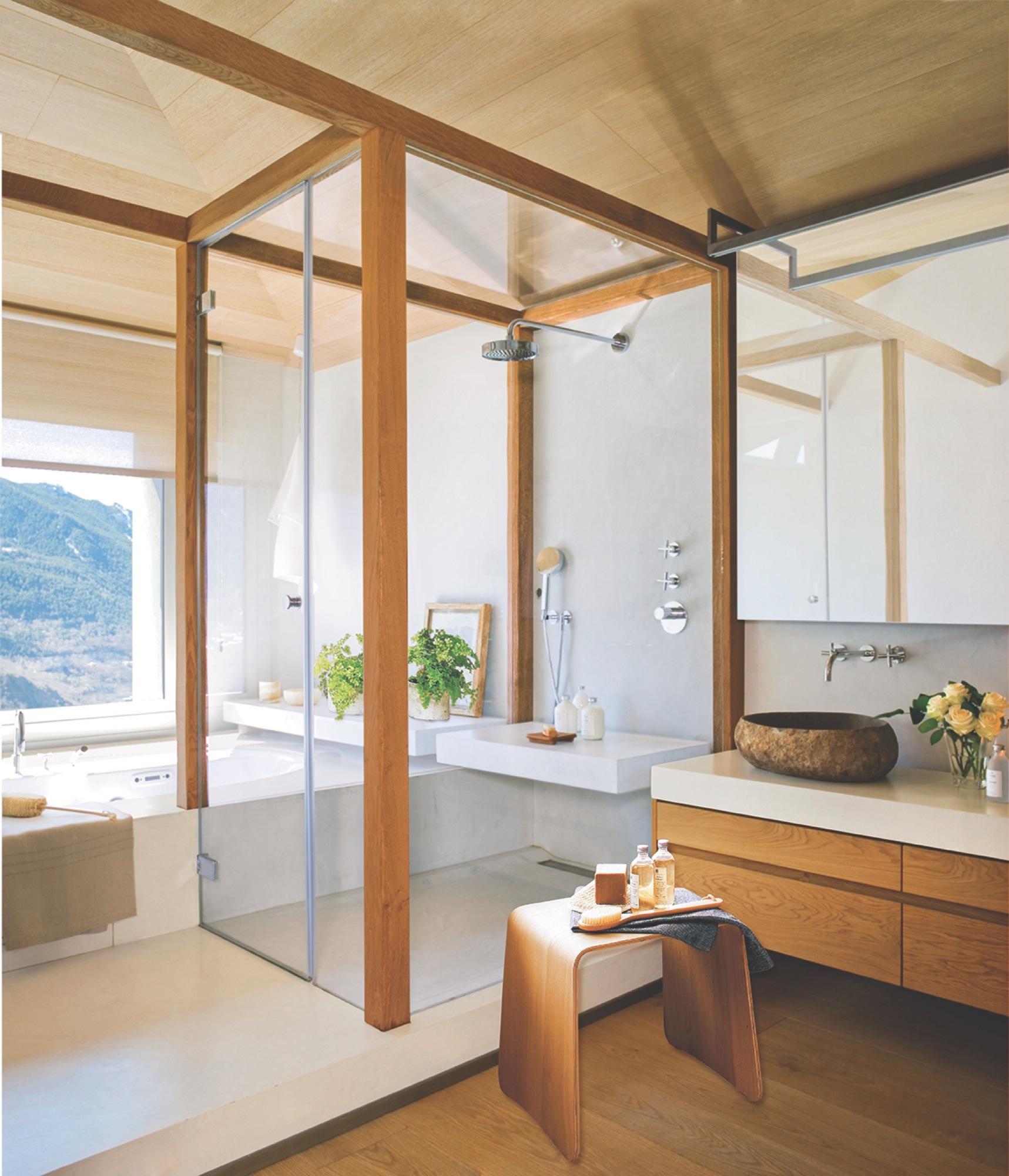 10 ba os espectaculares con 30 ideas muy pr cticas for Banos modernos con ducha y banera