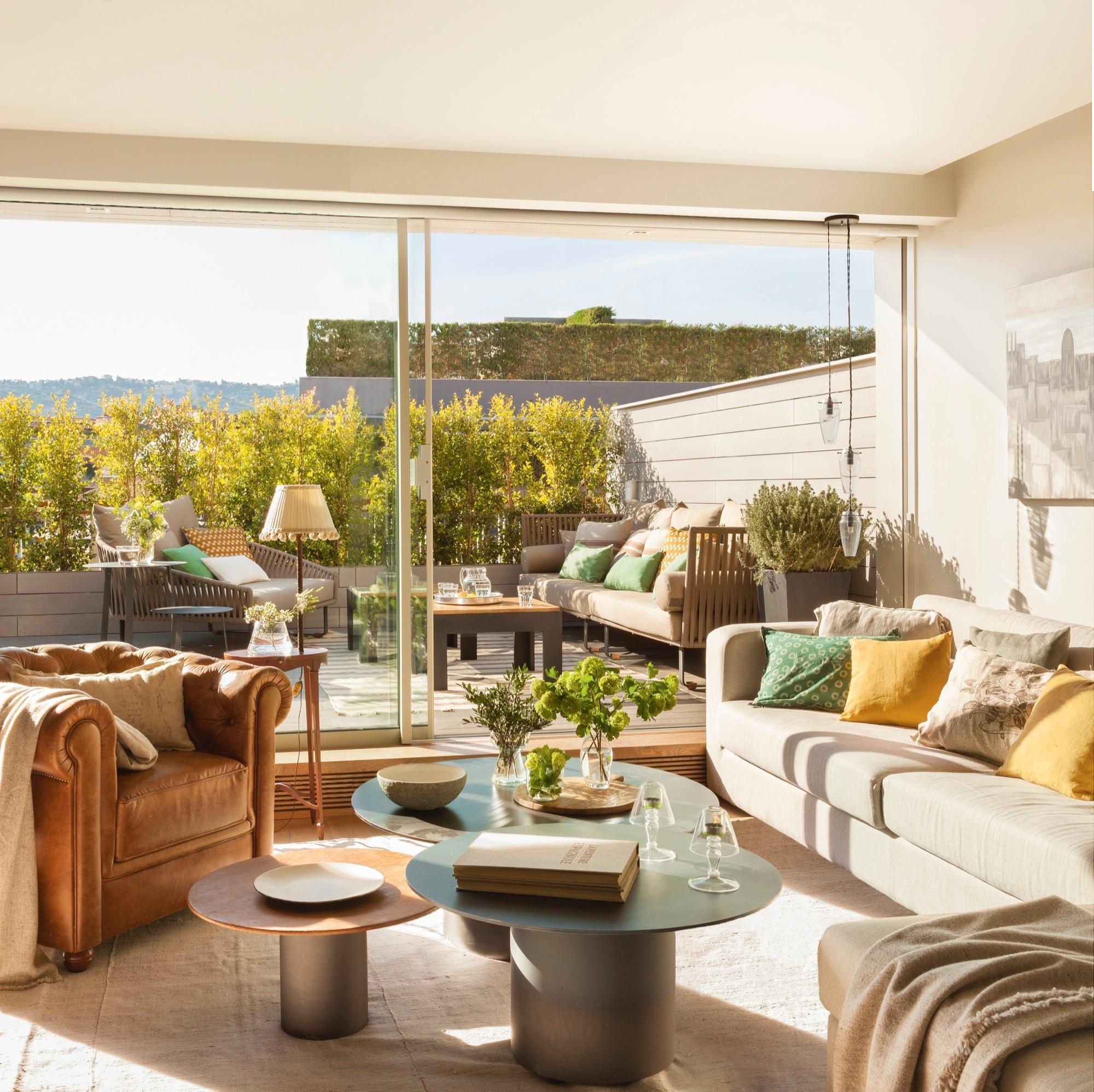 La terraza perfecta que conquist a los due os - Cojines para sillas terraza ...