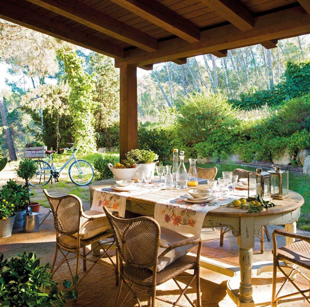 Vivir en un parque natural for Mesa porche