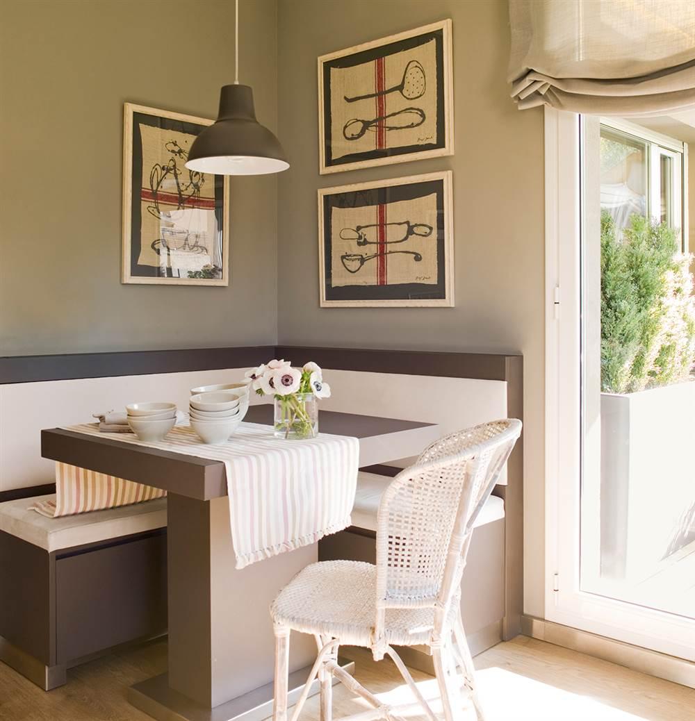 8 rincones que har n crecer tu casa for Mesa cocina con banco rinconera