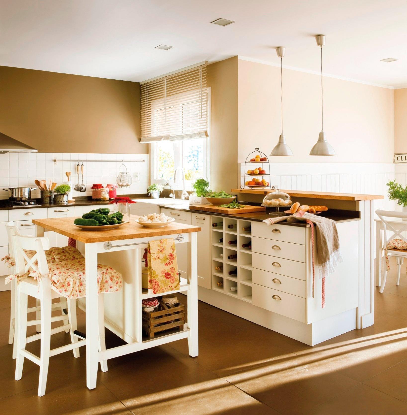 C mo organizar la cocina y el ba o para que resulten m s for Mueble que se convierte en mesa
