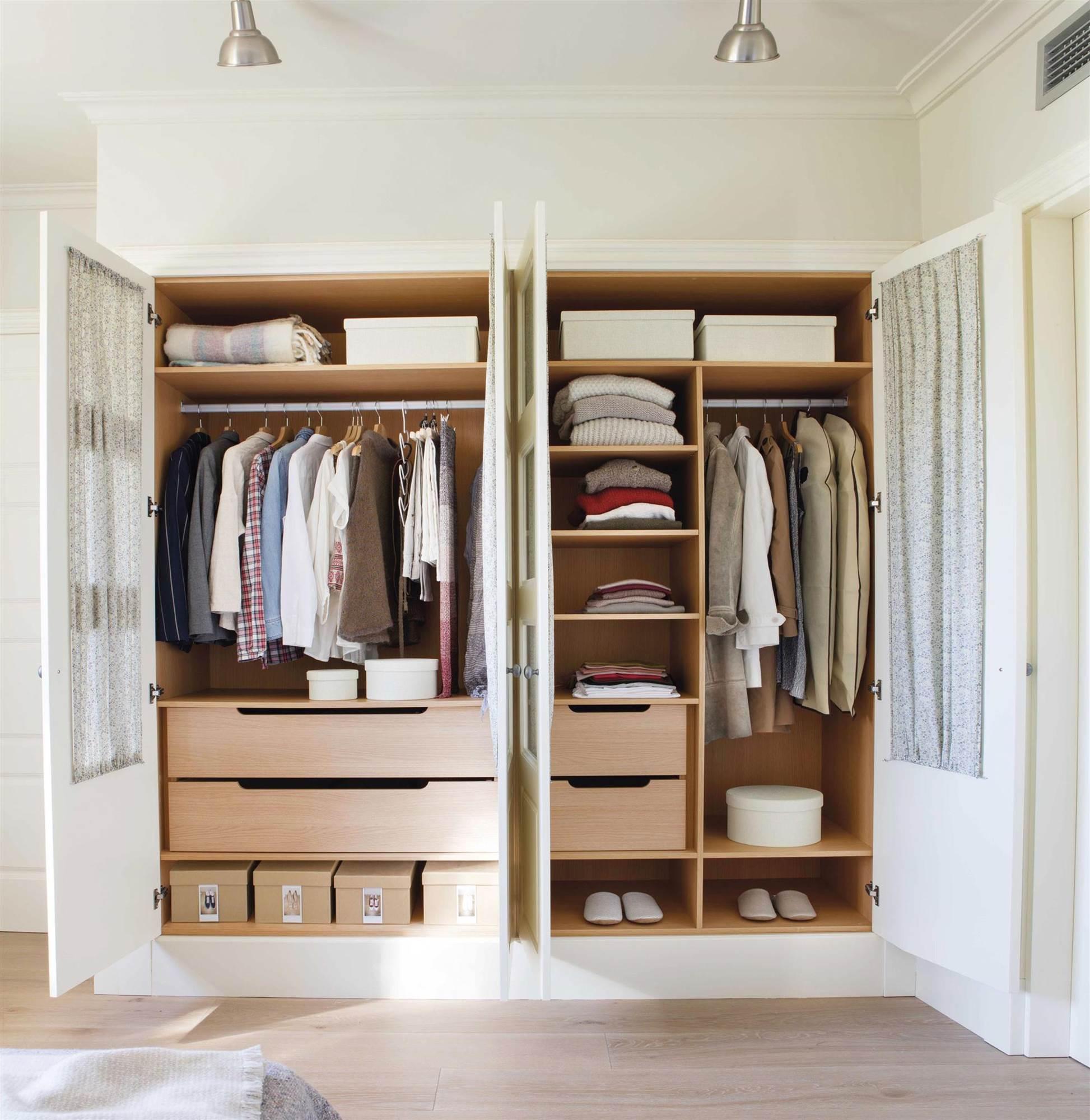 C mo ordenar el armario y mantenerlo for Armarios de pared para banos