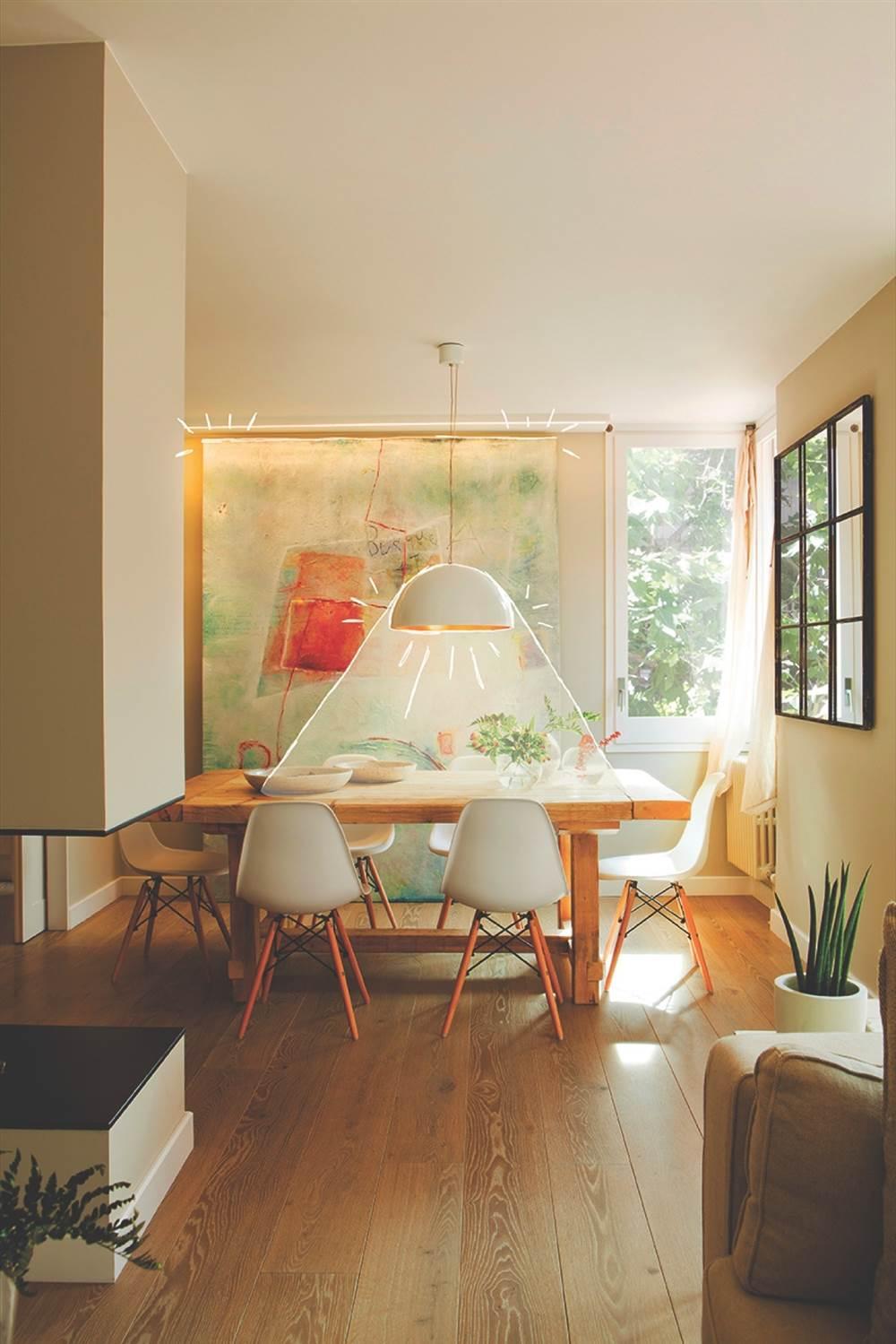 Lamparas comedor techo fabulous lampara de techo para for Sala comedor comedor rectangular