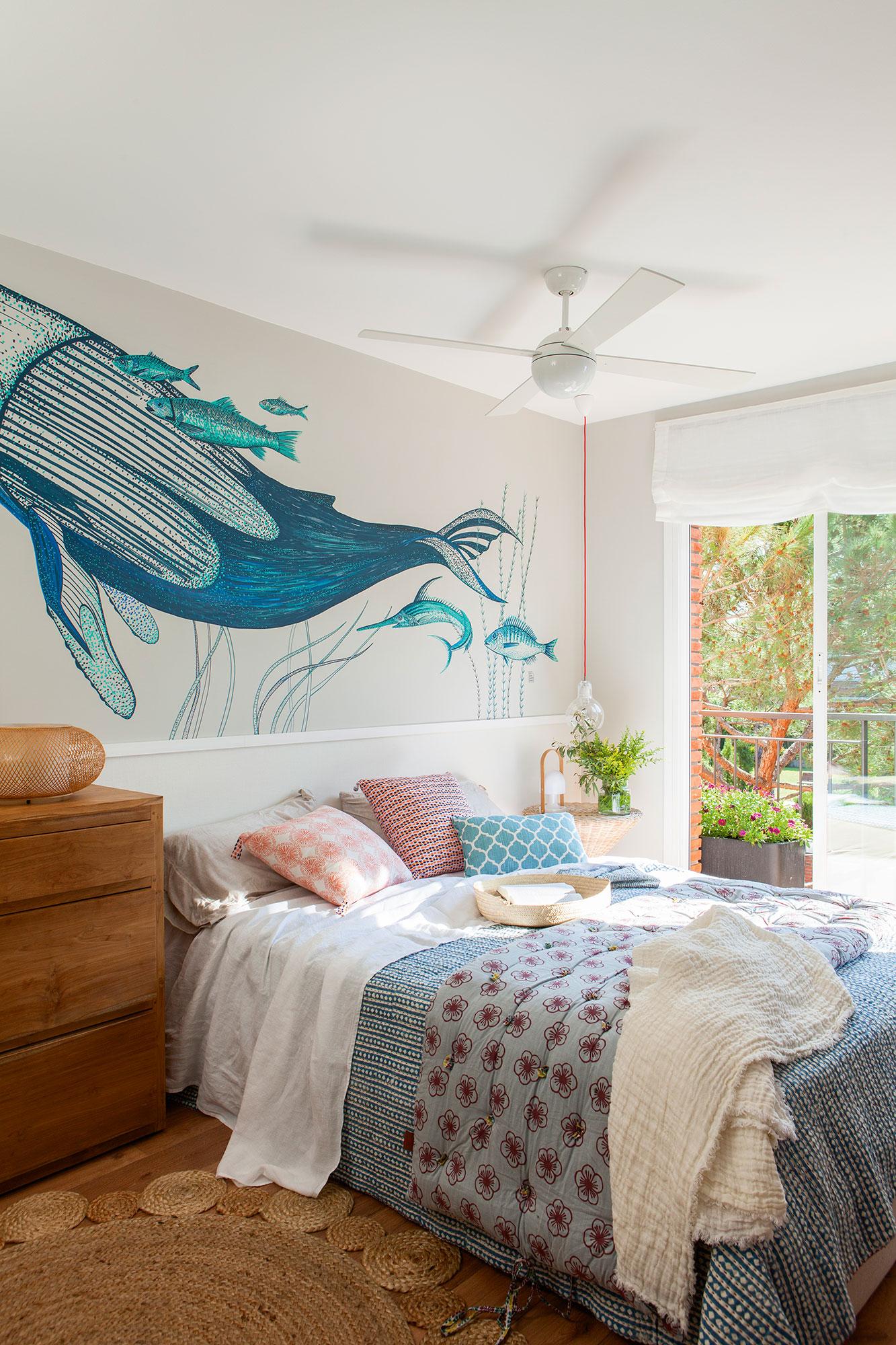 20 dormitorios con muchas ideas - Pared cabecero dormitorio ...