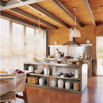 Mesas de comedor for Muebles de cocina de hierro