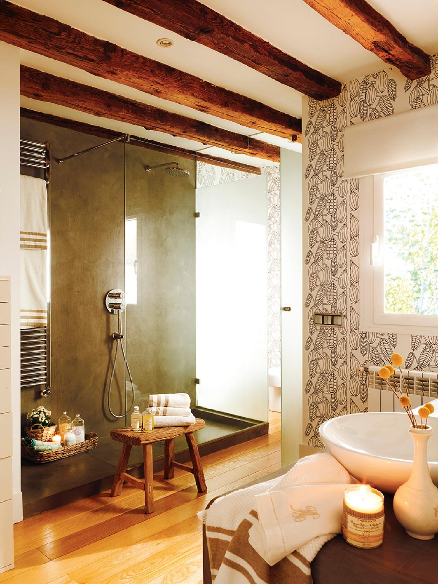 Decora tu casa con papel pintado - Papel pintado bano ...