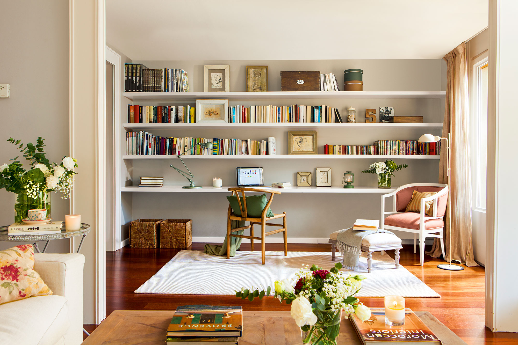 10 librer as pr cticas y decorativas para toda la casa for Para desarrollar su salon rectangular