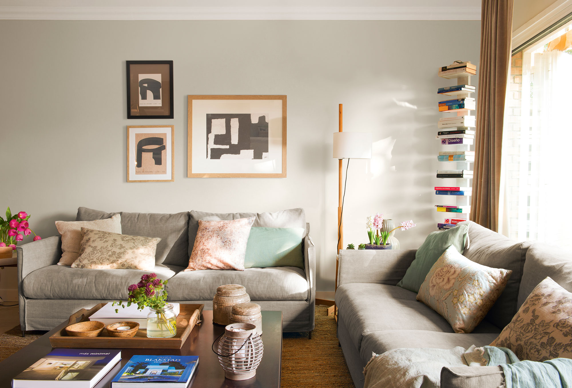 10 librer as pr cticas y decorativas para toda la casa - Decorar salon en l ...