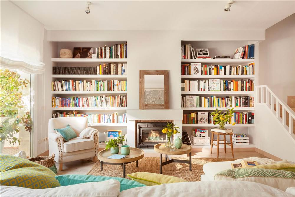 10 librer as pr cticas y decorativas para toda la casa for Librerias en salones