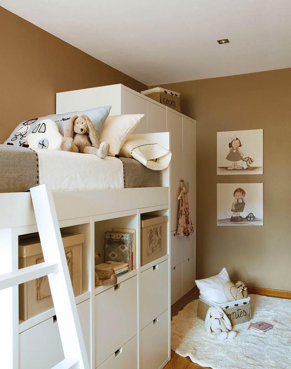 2 habitaciones infantiles bien aprovechadas que - Paredes habitaciones infantiles ...