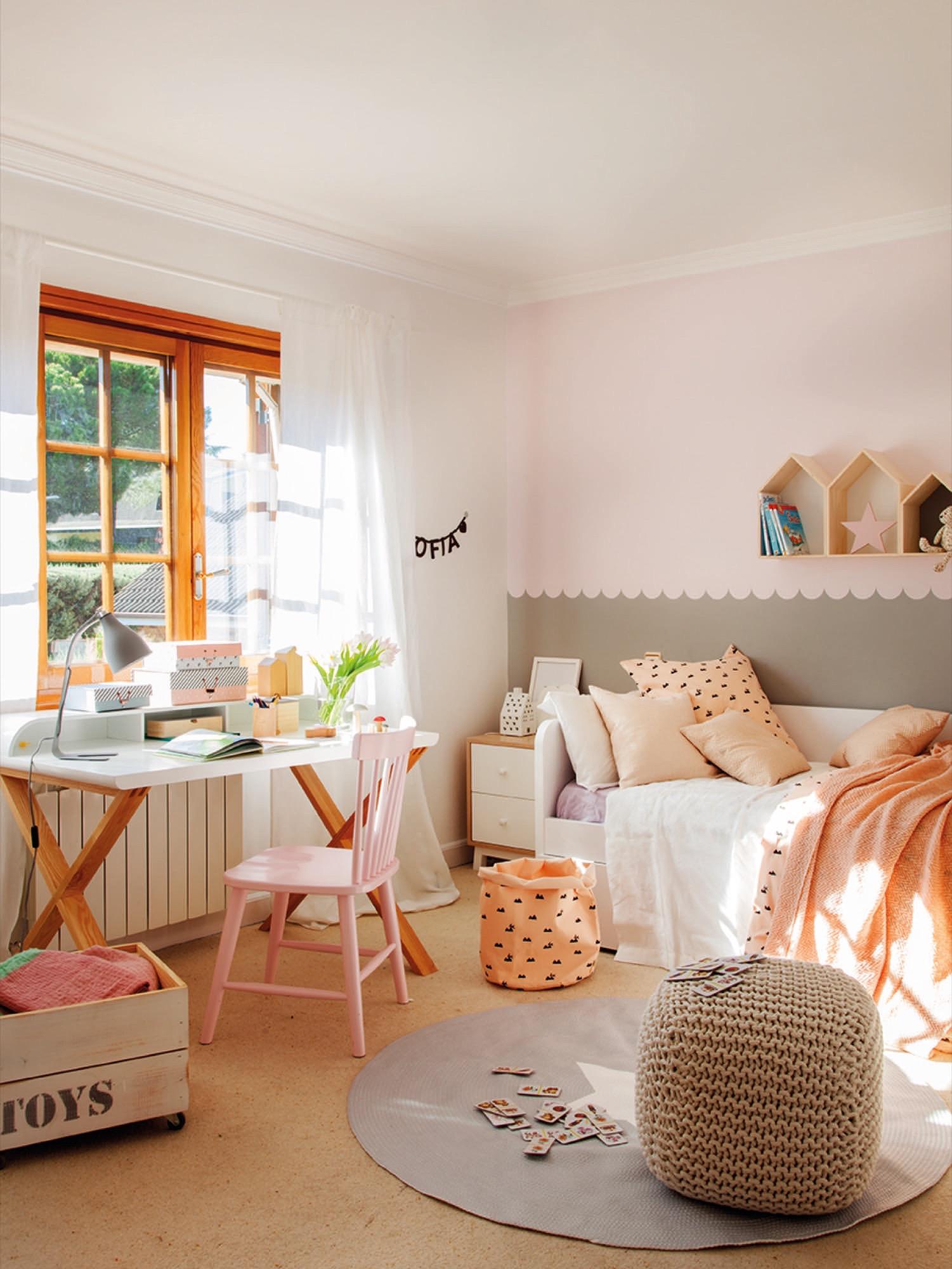 124 fotos de muebles ni os for Dormitorios pintados en gris