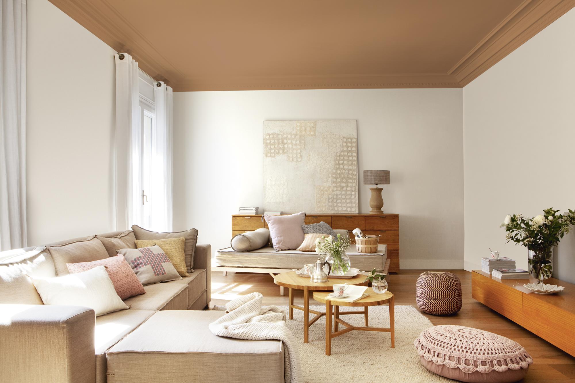 Mira cómo cambia este salón sólo con la pintura