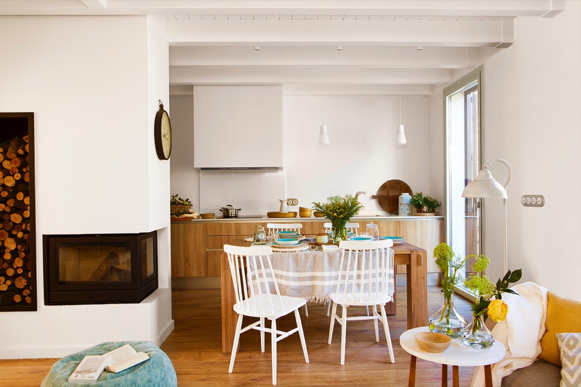 Bonito comedor cocina fotos mesa de cocina o comedor - Cocina comedor ideas ...