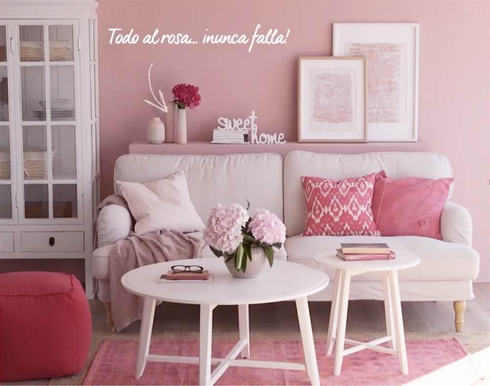 Atr vete con el color rosa - Cojines de salon ...