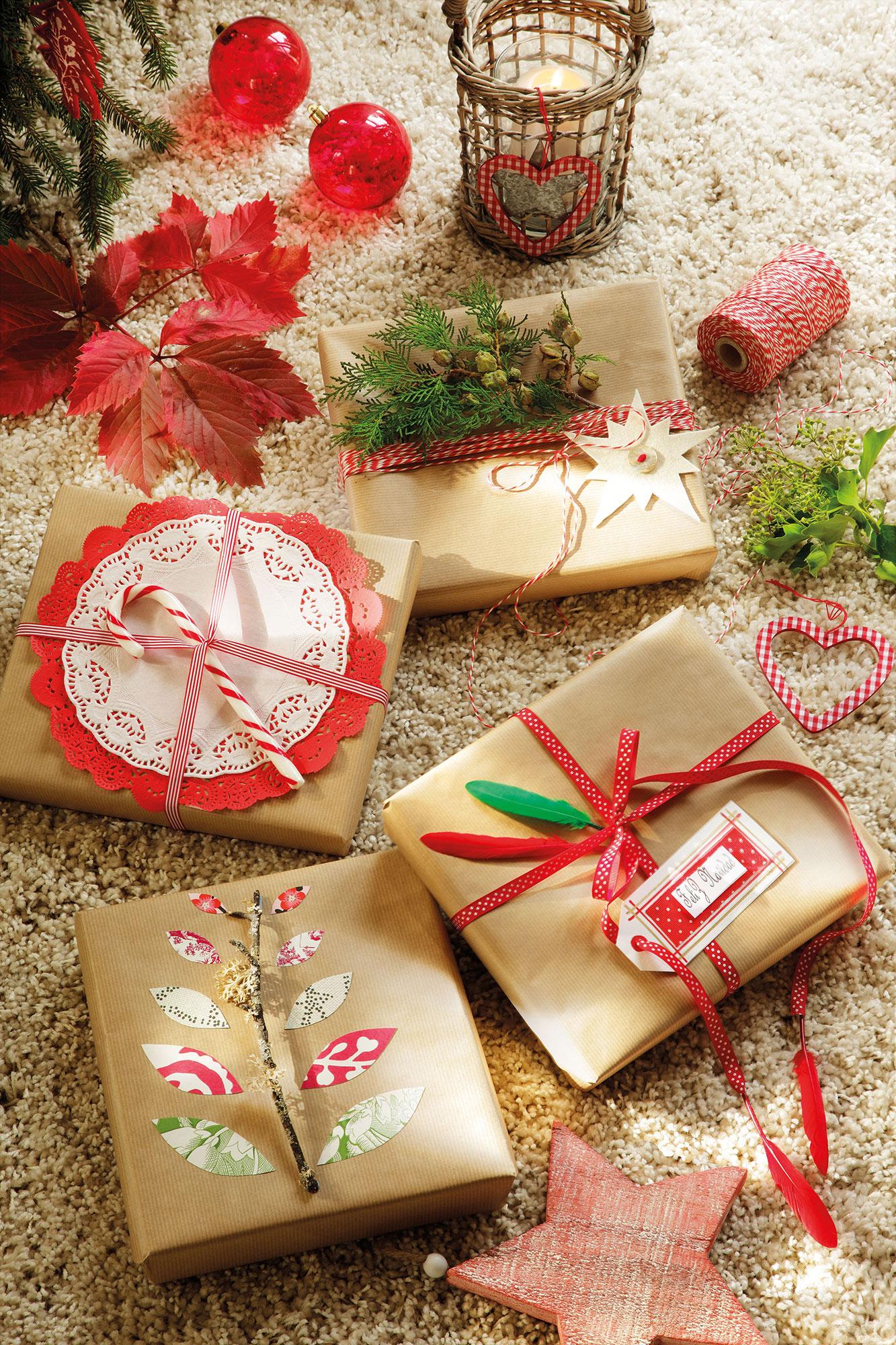 Decoraci n de navidad en rojo y verde 15 ideas para - Detalles de decoracion para casa ...