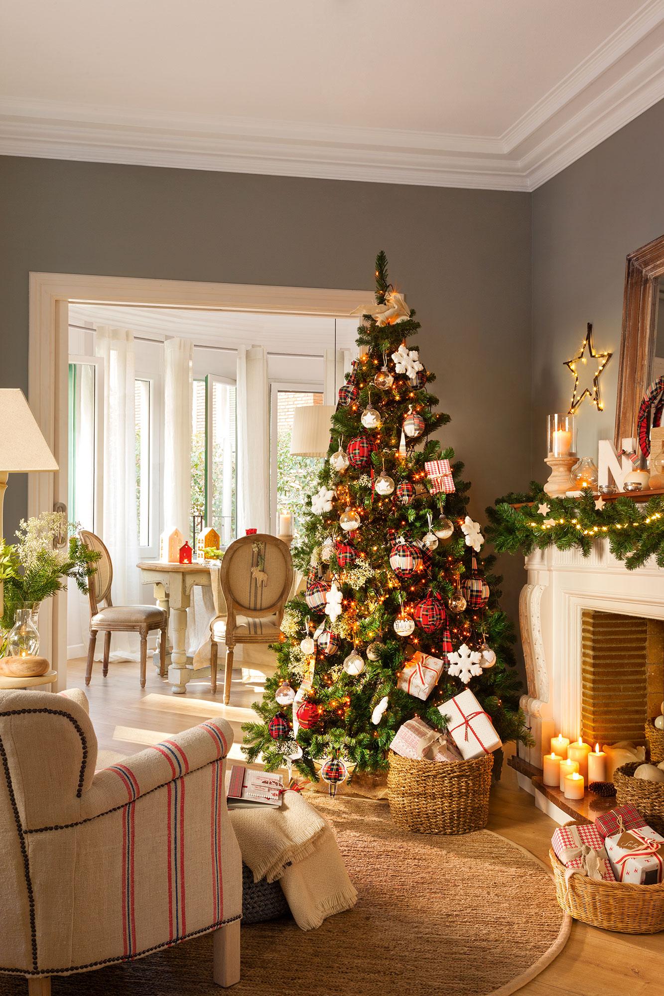 Decoracion De Navidad En Rojo Y Verde 15 Ideas Para Decorar Tu Casa - Decorados-de-navidad