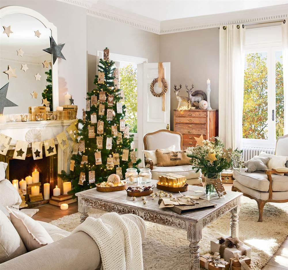 Tres estilos de navidad en el sal n cu l es el tuyo for Salones decorados para navidad