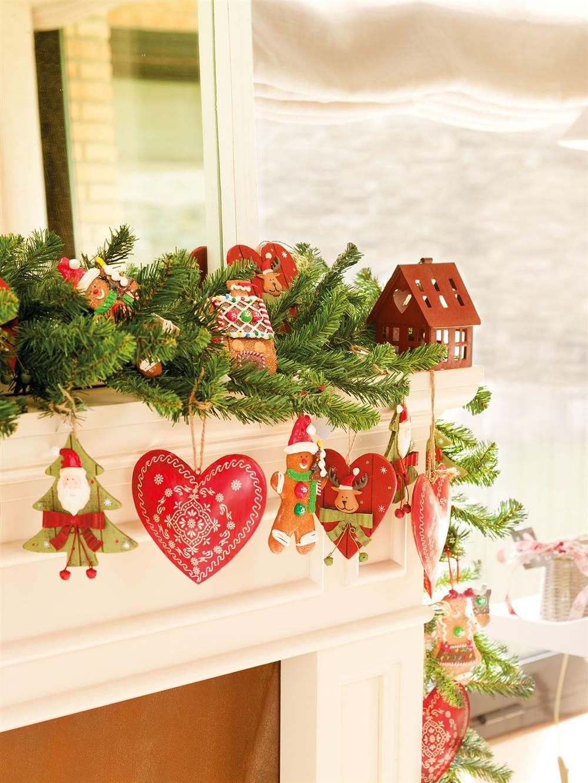 Decoraci n de navidad en rojo y verde 15 ideas para decorar tu casa - Decoracion de chimeneas en salones ...