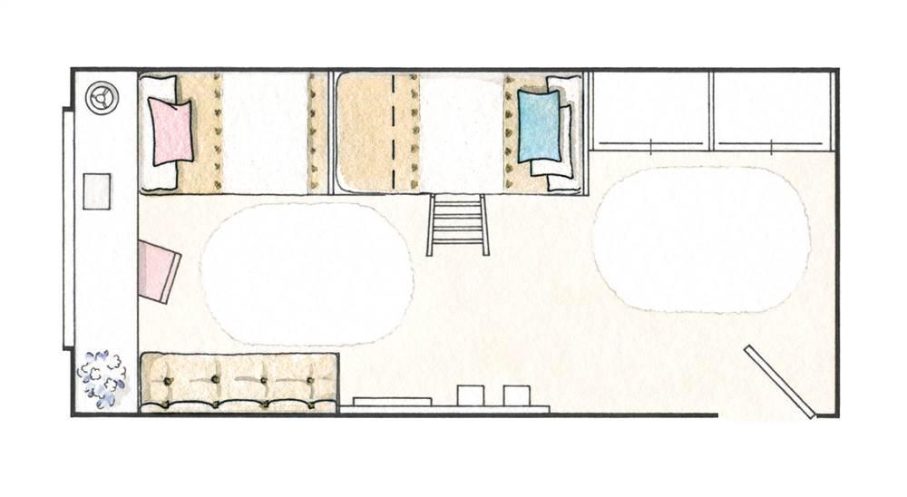 2 habitaciones infantiles bien aprovechadas que for Distribuir casa planos