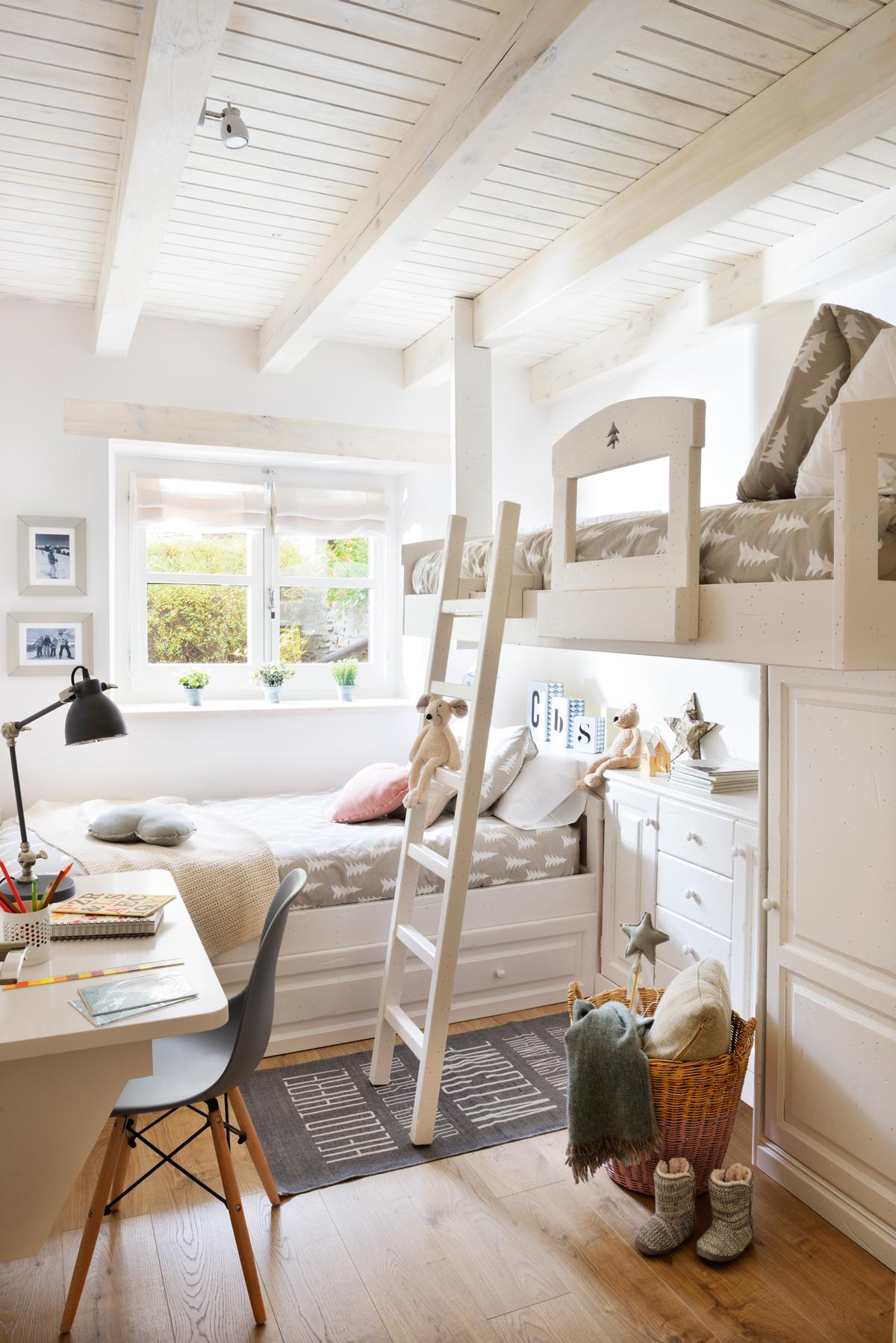 Ideas para decorar la habitaci n de los ni os - Habitaciones juveniles blancas ...