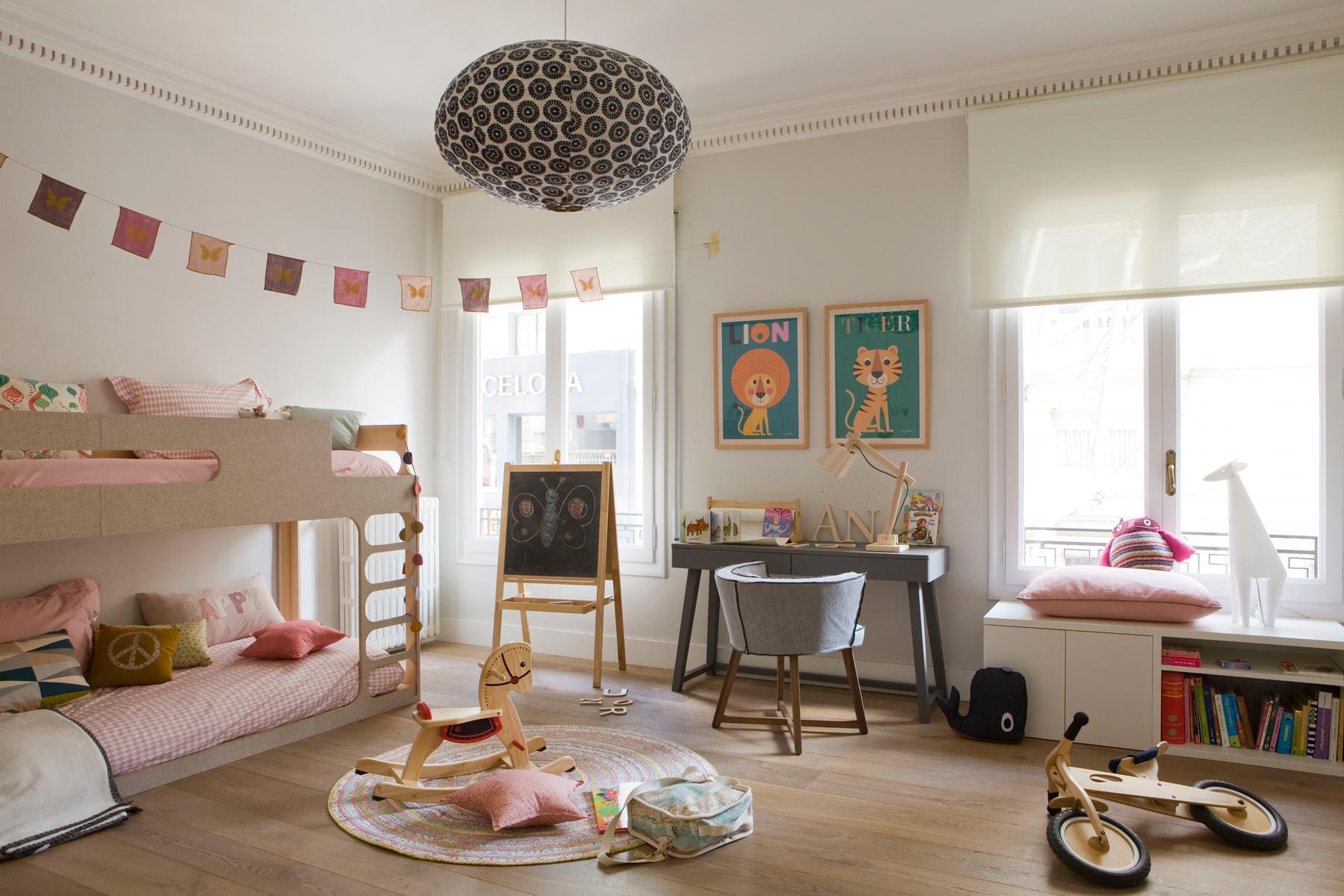 Ideas para decorar la habitaci n de los ni os - Habitacion con literas ...