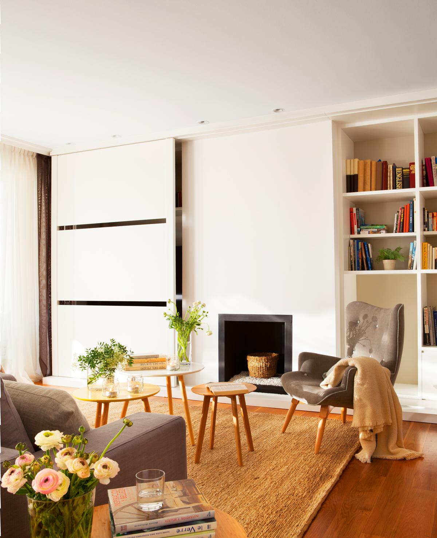 Salones Pequenos Con Muebles Que Aprovechan Cada Centimetro - Muebles-de-mamposteria-de-salon