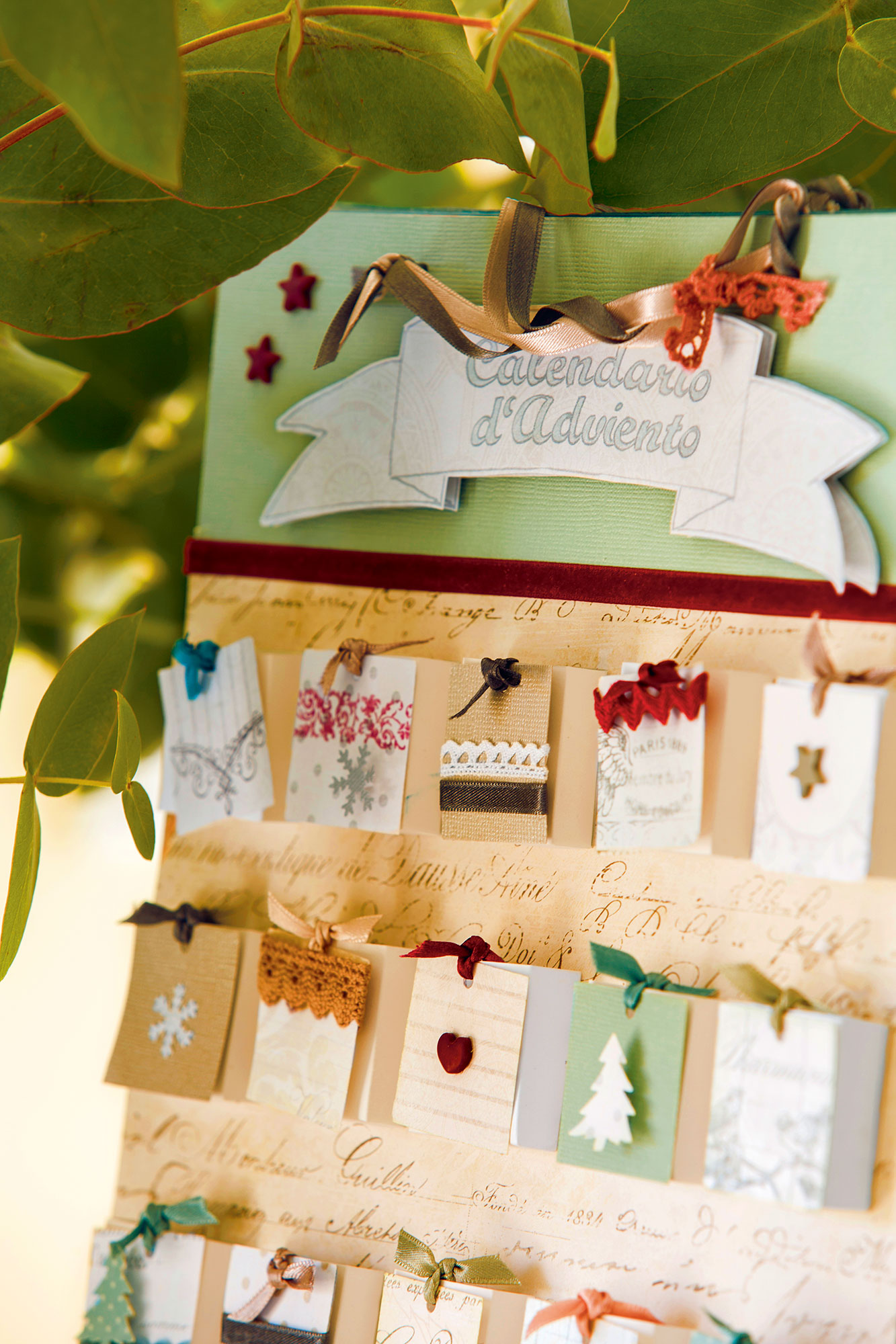 Advent calendar detail handmade. A handmade advent calendar