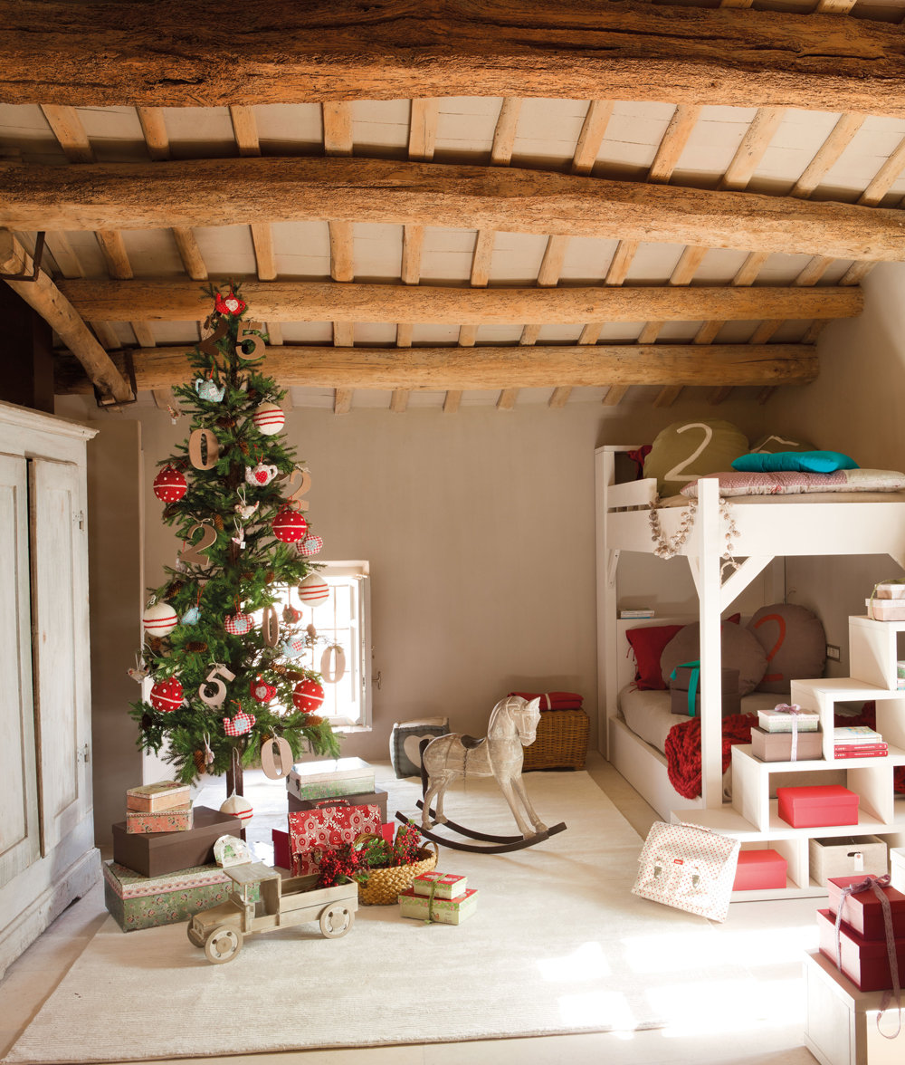 Casas De Decoracion En Caballito ~   de Navidad, literas, escalera, alfombra, armario y caballito (354156