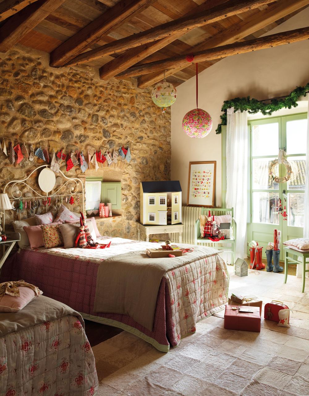 Adornos de navidad para decorar la habitaci n infantil - Cama con techo de tela ...