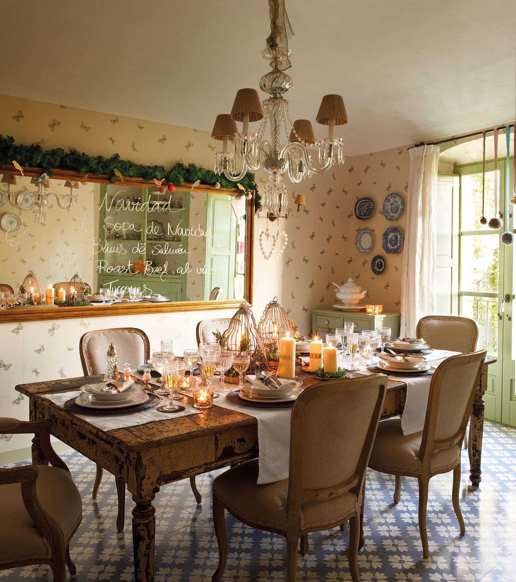 15 propuestas para decorar la mesa de fiesta - Decoracion comedor rustico ...