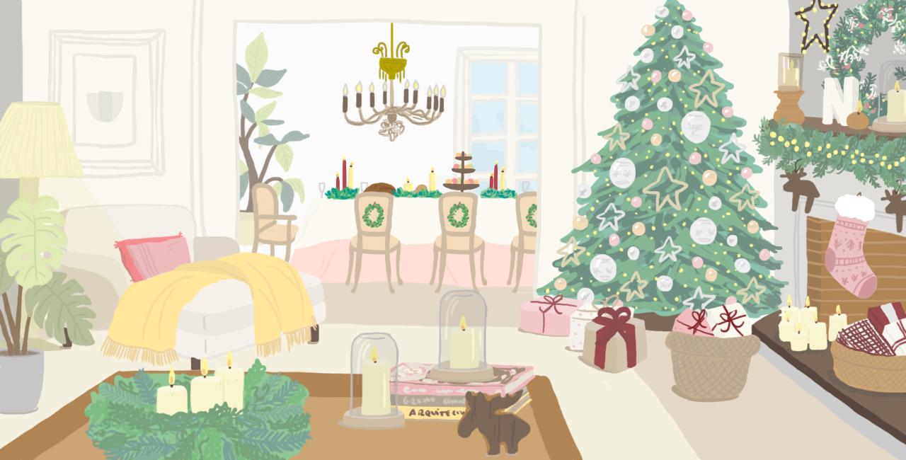 Salones decorados para navidad gallery of full size of for Salones decorados para navidad