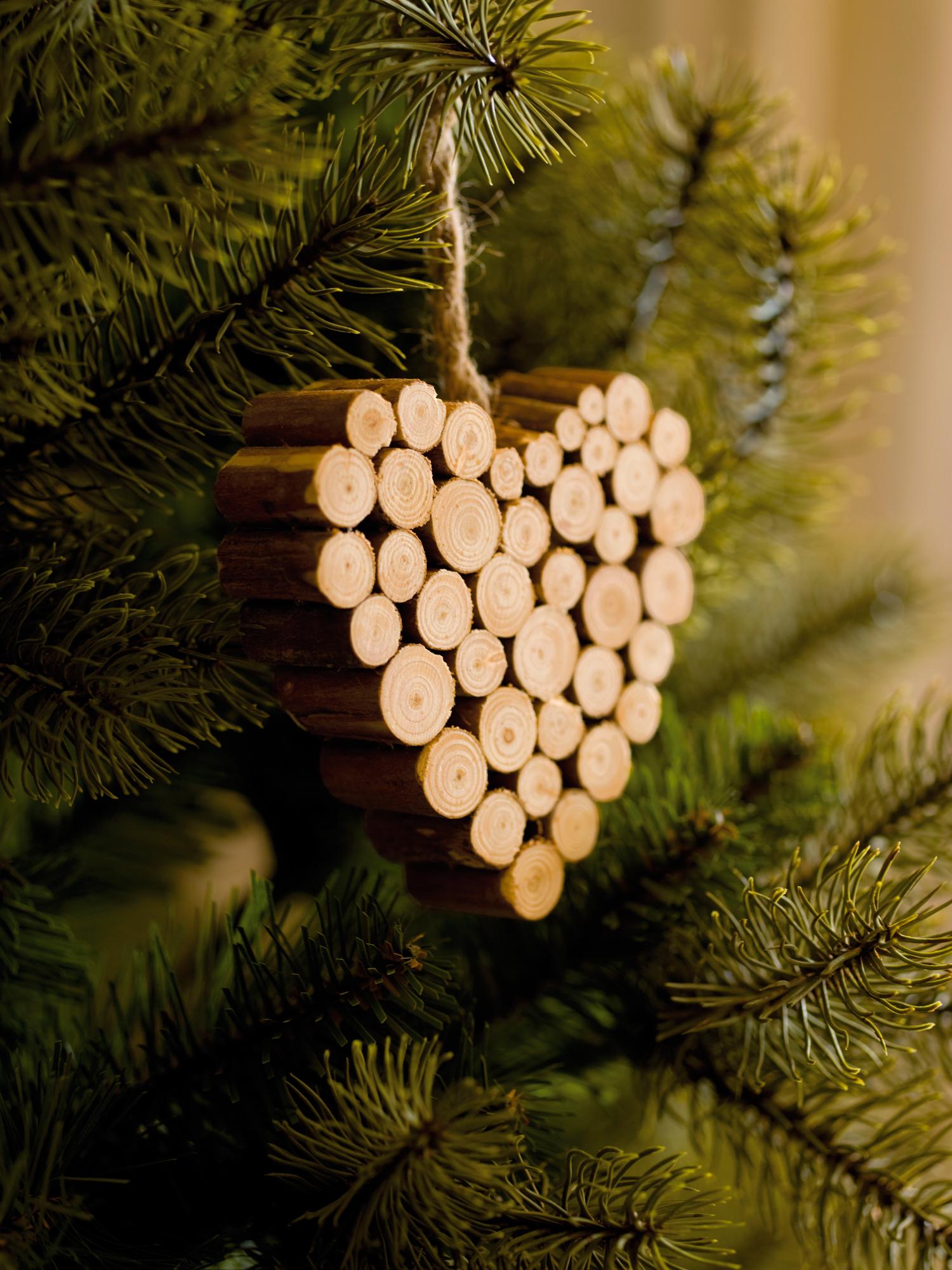 adorno para rbol de navidad en madera