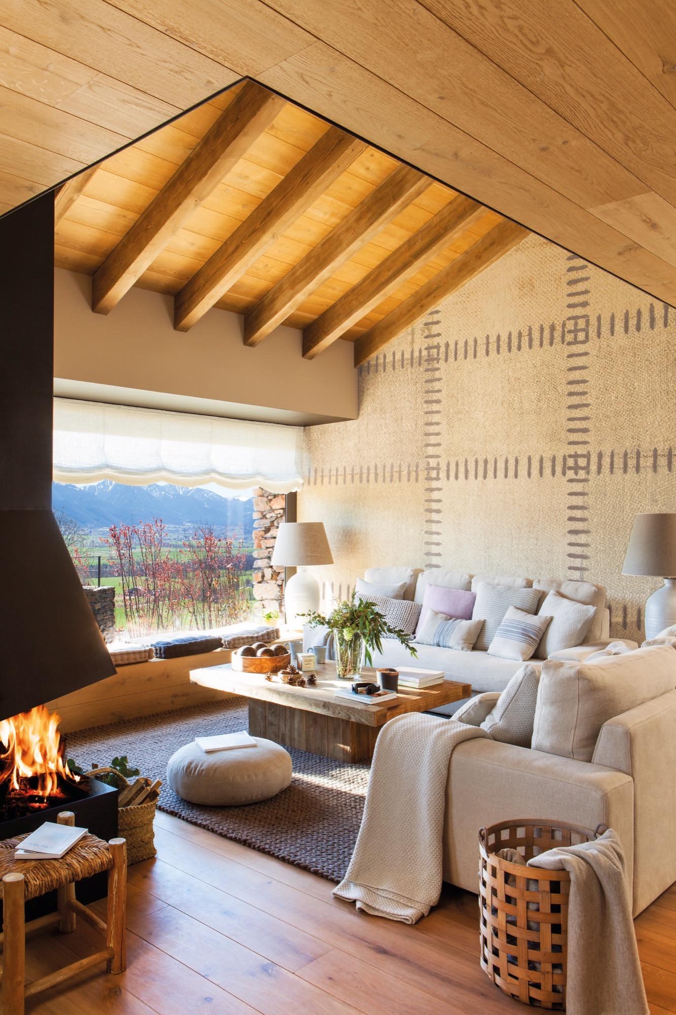 Una casa de monta a c lida acogedora y muy abrigada en la - Cabanas de madera en la nieve ...