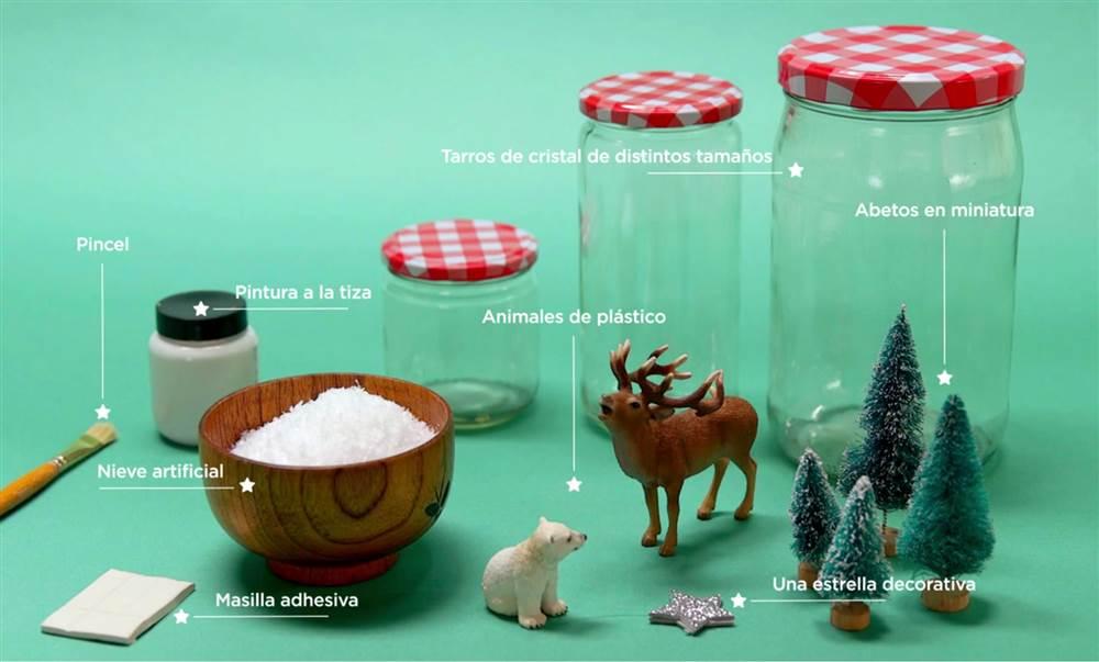 Manualidad de navidad bola de nieve diy - Como hacer bolas de nieve ...