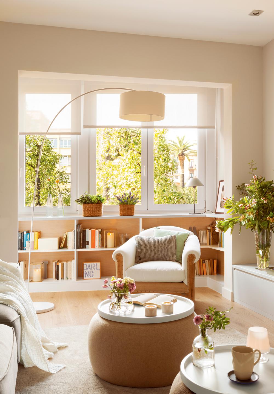 Muebles e ideas para aprovechar las ventanas - Mesas para salones ...