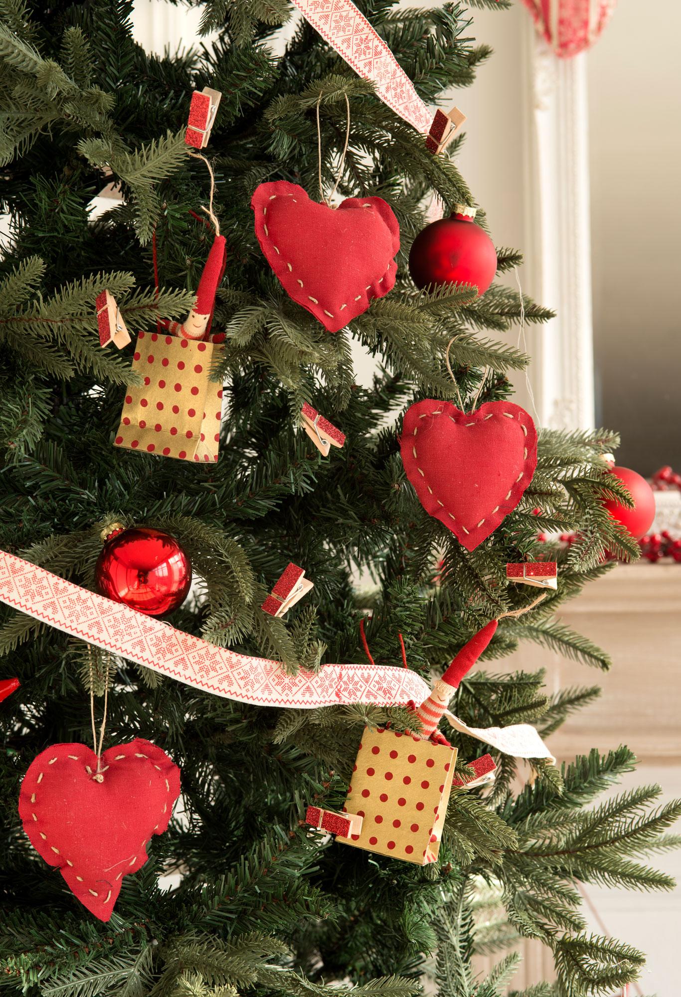 00418673 ob detalle de rbol de navidad con adornos de fieltro - Imagenes Arbol De Navidad