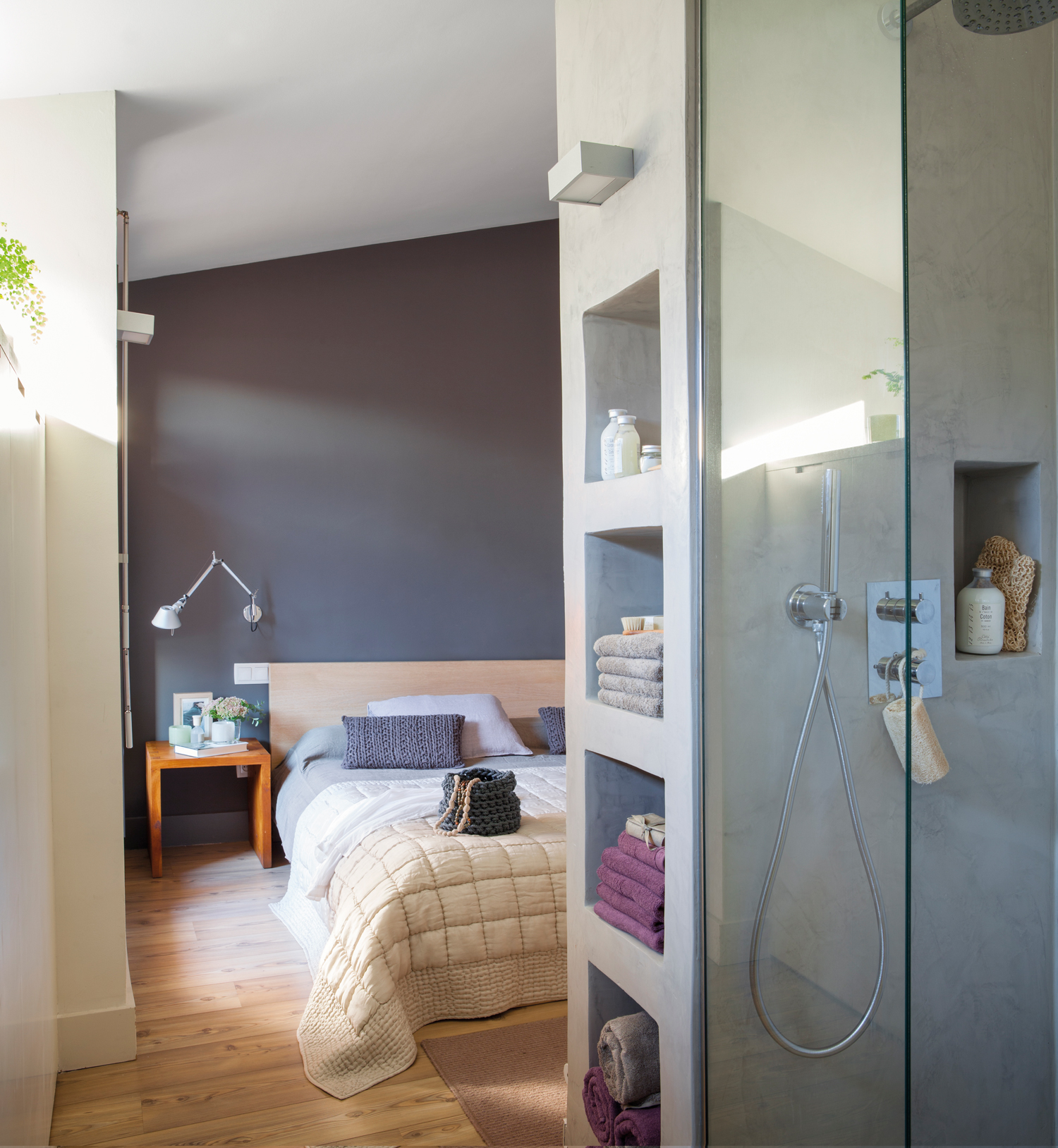 Hornacinas huecos decorativos y con espacio extra para - Bano con microcemento ...
